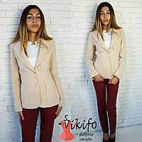 Женский модный теплый костюм: пиджак из кашемира и брюки (3 цвета), фото 1