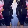 Женская стильная корсетная юбка со шнуровкой