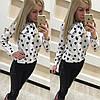 Женская красивая блуза с сердечками