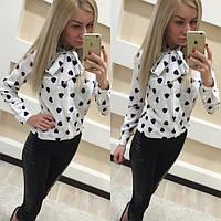 Женская красивая блуза с сердечками , фото 1