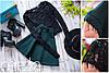 Женский стильный костюм: блуза из гипюра и юбка-солнце (5 цветов)