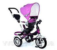 Велосипед детский с ручкой Ардис Макси Трайк на надувных колесах фиолетовый