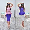 Женский стильный костюм: баска и юбка-карандаш (очень много расцветок)