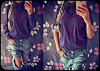 """Женская стильная рубашка """"Сердечко"""", фото 1"""