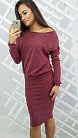 Женский модный теплый костюм: кофточка и юбка , фото 1