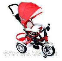 Велосипед детский с ручкой Ардис Макси Трайк на надувных колесах красный