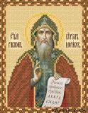 Ткань с рисунком для вышивки бисером Святой Кирилл Моравский
