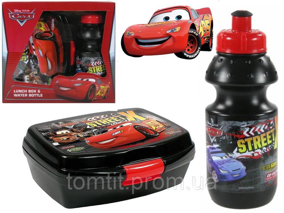 """Набор """"Cars - Тачки"""" в коробке. Бутылка и Ланч бокс (ланчбокс)"""