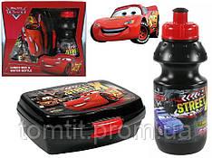 """Набор """"Cars (Тачки)"""" в коробке. Ланч бокс (ланчбокс) + бутылка"""