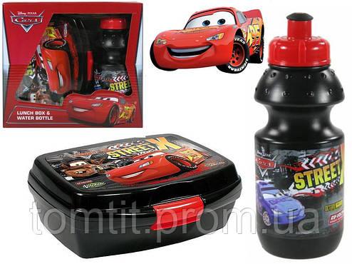 """Набор """"Cars (Тачки)"""" в коробке. Ланч бокс (ланчбокс) + бутылка, фото 2"""
