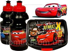 """Набор """"Cars - Тачки"""" в коробке. Бутылка и Ланч бокс (ланчбокс), фото 2"""