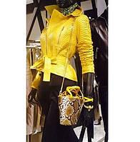 Жіноча куртка зі шкіри пітона / Женская куртка из кожи питона 0605