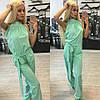 Женский стильный мятный комбинезон брюками (4 цвета) + (Большие размеры)