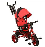 Велосипед детский трехколесный с ручкой M 3113-3A  красный