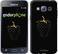 "Чехол на Samsung Galaxy J1 (2016) Duos J120H Черная клубника ""3585c-262"""