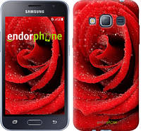 "Чехол на Samsung Galaxy J1 (2016) Duos J120H Красная роза ""529c-262"""