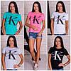 """Женская стильная футболка """"Calvin Clein""""(5 цветов)"""