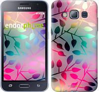 "Чехол на Samsung Galaxy J1 (2016) Duos J120H Листья ""2235c-262"""