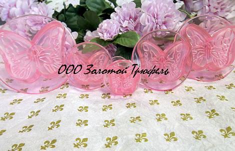Набор кондитерских плунжеров «Бабочки розовые 5 шт.»