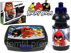 """Набор """"Angry Birds (Злые птицы)"""". Контейнер для завтрака (ланч бокс) + бутылка"""