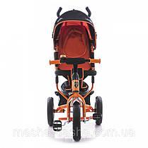 Детский трехколесный велосипед Azimut AIR Lambortrike оранжевый надувные колеса, фото 3