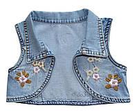Джинсовое болеро для девочки с вышивкой Overdo Kids 4733 р.98 голубой