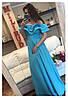 Женское волшебное платье в пол с открытыми плечами и рюшами (10 цветов)