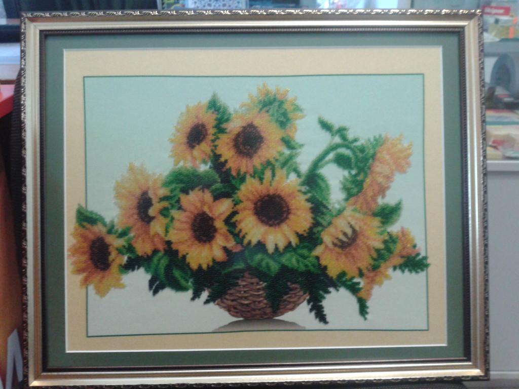 """Набор для вышивания бисером """"Солнечные цветы"""