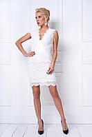 Женское праздничное платье с кружевом (2 цвета), фото 1