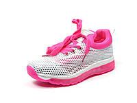 Детская спортивная обувь кроссовки Clibee:K-154 Серый+Малиновый, размер 35,36