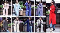 Женское модное пальто прямого кроя с молниями сбоку (8 цветов), фото 1