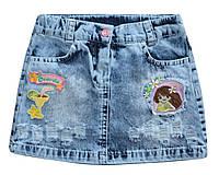 Модная джинсовая юбка для девочки Overdo Kids 4741 р.98 голубой