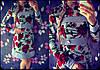 """Женское красивое платье """"Розы"""" с украшением"""