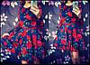 Женское красивое платье с пояском