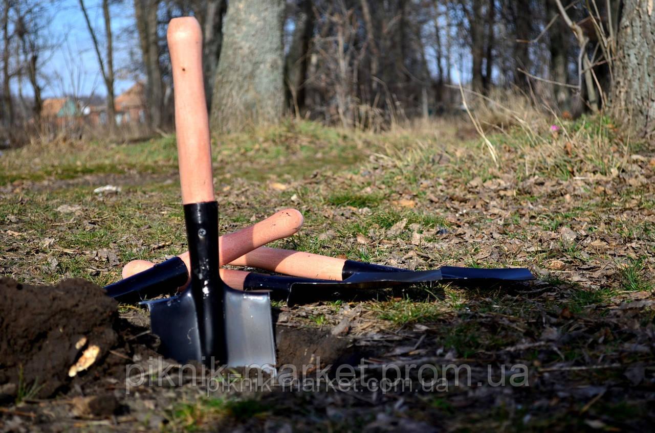 Лопатка саперная малая из высококачественной стали 1.8мм - Пикник Маркет в Запорожской области