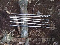 Шампура из нержавеющей стали металл 2мм. длина 500мм. 10шт.