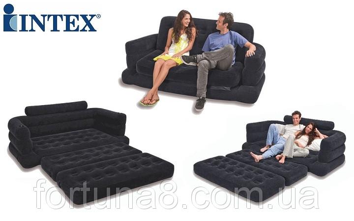 Надувной диван-трансформер 2в1 Intex