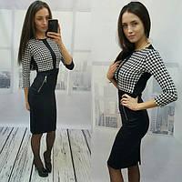 """Женское стильное платье """"Гусиная лапка"""", фото 1"""