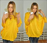 Женский стильный свитер свободного кроя Турция (расцветки)