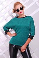 Женская модная кофточка из ангоры (р-ры 42-48) бирюза, 42