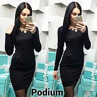 Женское модное платье с украшением (2 цвета)