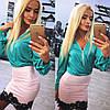 Женский красивый костюм: блуза и юбка (расцветки)
