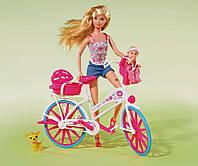 Куклы и пупсы «Simba» (5739050) Штеффи с малышом на велосипеде