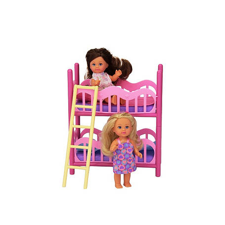 Ляльки пупси «Simba» (5733847) Еві з двоповерховим ліжком, 2 ляльки 12 см, фото 2