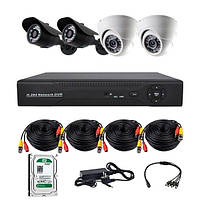 Комплект проводного видеонаблюдения CoVi Security AHD-22WD KIT+HDD500