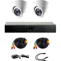 Комплект проводного видеонаблюдения CoVi Security AHD-2D KIT