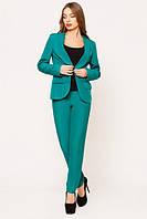 """Женский костюм """"Сhanel"""": пиджак и брюки (расцветки) бирюза, 48"""