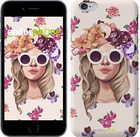 """Чехол на iPhone 6 Девушка с цветами v2 """"3569c-45"""""""