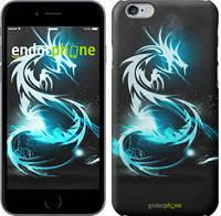 """Чехол на iPhone 6 Бело-голубой огненный дракон """"113c-45"""""""
