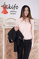 Женская стильная рубашка с длинным рукавом (3 цвета)